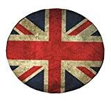 Tapis Retro Drapeau de l'Angleterre Chambre Mat Cercle tapis rond de 60x60CM