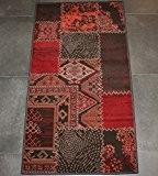 Tapis rouge à motifs CONTEMPO 80x150