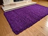 Tapis Shaggy Épais Luxueux Violet Moderne Haute poils doux à poils long Anti Perte de cheveux disponibles dans 9tailles, Violet, ...