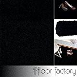 Tapis shaggy longues mèches Loca noir 200x290cm - tapis de salon au prix avantageux