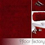 Tapis shaggy longues mèches Loca rouge 120x170cm - tapis de salon au prix avantageux
