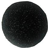 Tapis shaggy rond uni - dimensions 80/80 cm- couleur noir