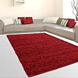 Tapis Shaggy Shaggy Doux Flokati Salon Günstig Annonces Rouge, rouge, 230 cm_x_320 cm