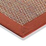 Tapis sisal aspect extérieur moderne tissage plat Cuisine Tapis Rouge Beige Naturel, différentes tailles