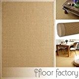 Tapis Sisal Beige 160x230 cm 100% fibre naturelle, bordures en coton