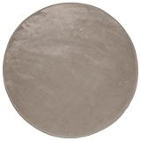Tapis velours rond taupe 90cm