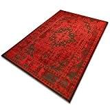 Tapis vintage rouge casa pura® type Persan | 100% polypropylène | 6 couleurs, 4 tailles | salon, chambre, entrée, etc. ...