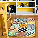 Tapis vinyle carrelages mixtes - 60 x 100 cm