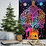 Tapisserie à arbre simple éléphant Suspension Murale Mandala hippie Tapisserie Art Decor ou Résidence 213,4x 139,7cm aakriti Galerie Meilleur Prix ...