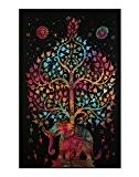 Tapisserie arbre de vie tenture indienne Elephant Tapestry hippie tenture murale colorful Tapestry Par Rajrang