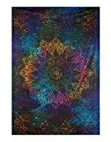 Tapisserie de d'Inde de d'étoile Tie Dye Star tapis de mur Coloré de Coton Hippie Mandala Tapestry Par Rajrang