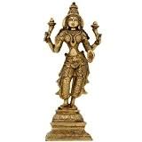 Tapisserie de l'hindouisme Laxmi idole deesse hindou statue en laiton figurine 27,94 cm