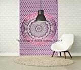 Tapisserie murale Violet Ombre unique simple à suspendre Mandala Art Decor tapisseries Hippie ou Résidence 213,4x 139,7cm aakriti Galerie