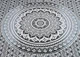 Tapisserie ombrée indienne pour mur, tapisserie mandala hippie, housse de canapé, couverture de plage, décoration murale pour résidence, drap de ...