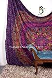 Tapisserie Reine Violet Fleur Magnifique œuvre d'art Mandala Mandala Plage Couvre-lit Couvre-lit motif indien tapisseries 233,7x 208,3cm aakriti Galerie