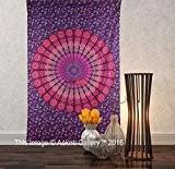 Tapisserie simple Violet NEUF Plus tapisseries mur Décor suspendu art Mandala Tapisserie Hippie ou Résidence 213,4x 139,7cm aakriti Galerie