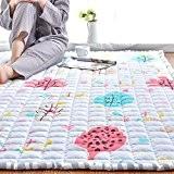 tatami rampants pur coton mat/ ménage chevet tapis pour enfants/Tapis mur à mur rectangulaire de chambre à coucher-B 150x220cm(59x87inch)