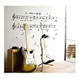 Tatouages / Stickers / Autocollants Muraux Vinyle Top Qualité Adhésifs Détachables Pour Murs de Chambres Avec Motifs de Portée et ...