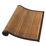 Tendance - Tapis bambou naturel fonce - Taille 50 x 80 cm