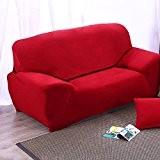Thérapeutique Housse stretch pour canapé 2places Tissu élastique Protection d'écran souple Housse pour canapé lavable en machine facile (Gris)