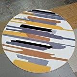 Thibaude Indoor Salle de séjour ronde élégante Tapis Couleur Tapis de sol, tapis de sol ( couleur : 2 , ...