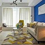 Thibaude Indoor Simple géométrique salon table basse canapé grand tapis Tapis de sol, tapis de sol ( taille : 120*160cm ...