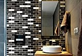 Tile & Sticker 3D Gel Mosaic Effect Self-Adhesive Splashback Tile Sticky Wall Tile Sticker for Kitchen/Bathroom by Tile & Sticker