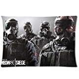 Tom Clancy S Rainbow Six Siege Pillowcase/Taies d'oreillers Custom Pillow case/Taies d'oreillers Cushion Cover 20 X 30 Inch Two Sides