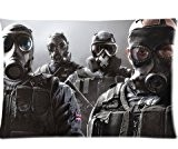 Tom Clancy S Rainbow Six Siege Pillowcase/Taies d'oreillers Custom Pillow case/Taies d'oreillers Cushion Cover 20 X 30 Inch
