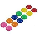 TOOGOO(R) 12 pieces avec 30mm multicolore Tableau magnetique blanc et noir