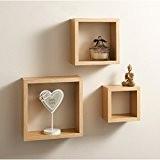 Top Home Solutions Cube Lot de 3étagères murale flottante en bois étagère de rangement CD/DVD/Livres