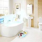 Top-ressort pour enfants en PVC antidérapant à ventouses Tapis de bain de sécurité Tapis de bain 69 x 39 cm