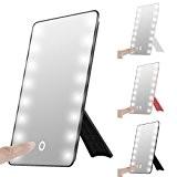 Touch pliable avec LED Miroir avec lumière, oenbopo Smart Touch Béquille 16LED lumineux miroir de maquillage miroir cosmétique Table Comptoir ...
