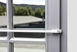 Tringle à rideaux autobloquante extensible Différentes tailles et couleurs Fixation sans perçage, Weiß, 45-75 cm
