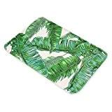 Tropical Rainforest Feuilles Tapis de sol American Tapis Vert antidérapant pour salle de bain Intérieur/extérieur Paillasson Alfombras rectangle Tapis pour ...