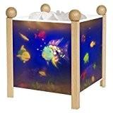 Trousselier - Poisson Arc en Ciel - Rainbow Fish - Veilleuse - Lanterne Magique - Bois Vernis