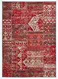 Un Amour de Tapis 36705 BC Patchwork Tapis pour Salon Polypropylène Rouge 80 x 150 cm