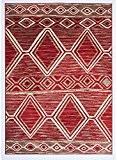 Un Amour de Tapis 36714 BC Berger Tapis pour Salon Polypropylène Rouge 160 x 230 cm