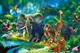 ungle Animaux Papier Peint de Photo – Safari Tableau mural - XXL Jungle Déco mural chambre d'enfant papier peint by ...