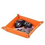 Unionbasic Vide-poches en cuir PU pour Monnaie Téléphone Clés Orange