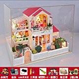 Upper-Cabine de bricolage petit temps, assemblées à la main Villa Maison modèle filles jouets d'anniversaire, cadeaux Saint Valentin, un couple ...