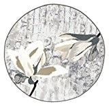 """Vallila Interior 133 cm en Polyamide et Bouclée «LUCY """"Motif fleurs rond Tapis Beige"""