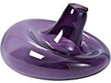 Vase violet design en verre Ø27 cm