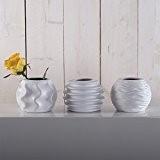 Vases de «ROMA» - 3 pièces-vase décoratif en porcelaine (blanc)