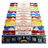véritable Satya Sai Baba–Nag Champa variété MIX Coffret cadeau B 12x 15g boîtes de Comprend, d'encens, Nag Champa Super Hit, ...