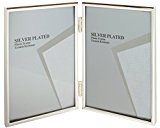 Viceni 10 x 15cm Double Cadre Photo Fin Portrait, Plaqué Argent