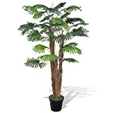 vidaXL Palmier Artificiel 180 cm Arbre Artificiel décoration Plastique Fil de fer