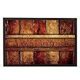 Vintage Bienvenue Tapis en bois Motif d'entrée Décor Welcome Tapis de porte humoristique à l'extérieur à l'intérieur de porte d'entrée ...