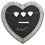 Vintage en forme de cœur Ardoise avec Craie et 3 pinces