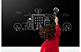 Vinteky® Sticker Autocollant Mural Tableau Noir Ardoise Mur Blackboard 45*200cm Amovible